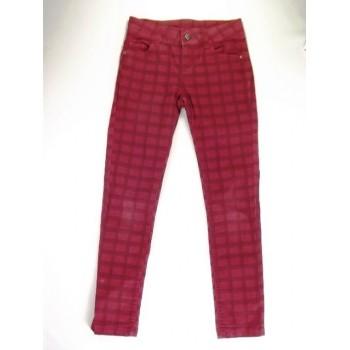 Bordó kockás nadrág (140)