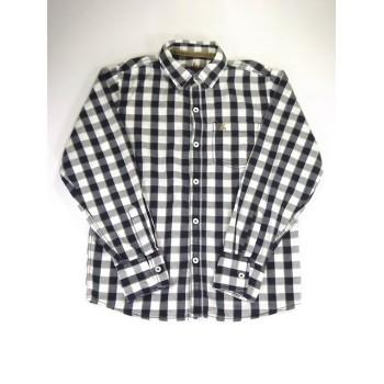 Kék-fehér-khaki kockás ing (140)