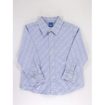 Kék kockás hosszú ujjú ing