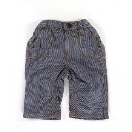 Kék csíkos vászon nadrág