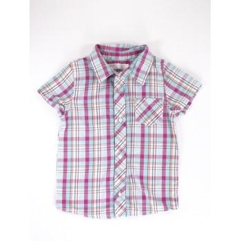Pink-kék kockás ing