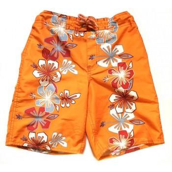 Virágos narancs rövidnadrág (122)