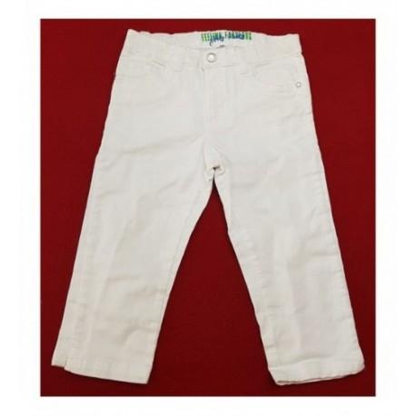 Fehér pamut térdnadrág (146)