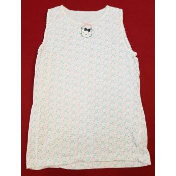 Pöttyös, cicás fehér trikó (140)