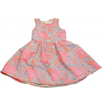 Narancssárga virágos kék ruha (128)