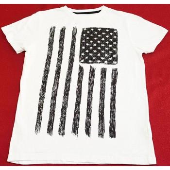 Zászlós fekete-fehér felső (152)
