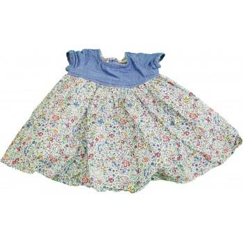 Virágmintás kék ruha (56)