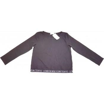 Feliratos fekete felső (170)