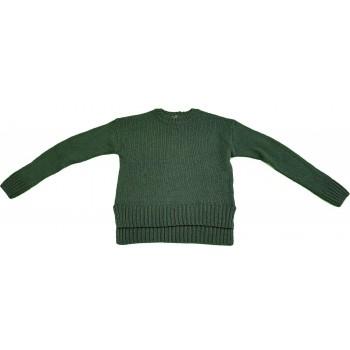 Sötétzöld kötött pulóver (152-158)