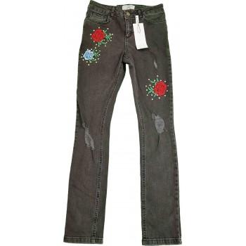 Rózsás sötétszürke skinny farmer (152)