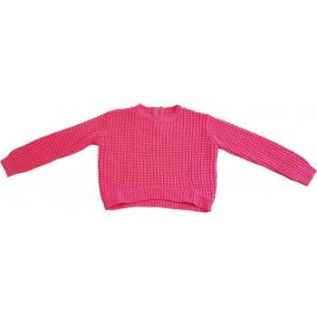Rövid pink pulóver (128)