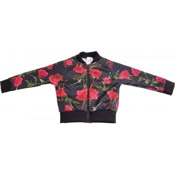 Rózsás fekete kardigán (92)