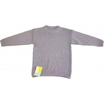 Lila kötött pulóver (128)