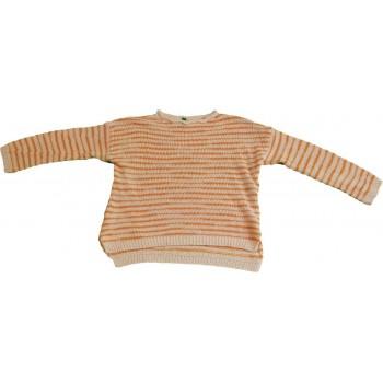 Narancs csíkos pulóver (110)