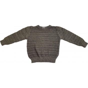 Csíkos keki pulóver (86)