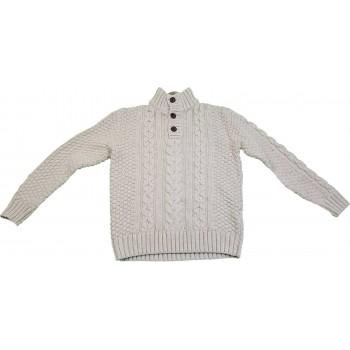 Bézs kötött pulóver (158)
