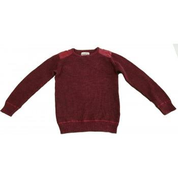Bordó kötött pulóver (170)