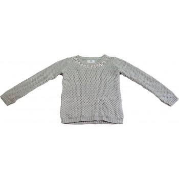 Strasszköves szürke pulóver (152)