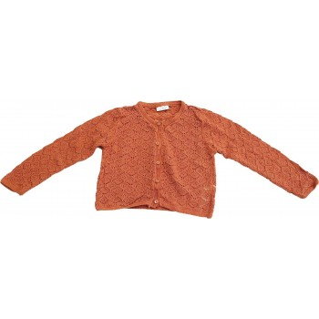 Narancssárga horgolt kardigán (86)