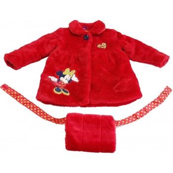 Minnie egeres piros kabát (92-98)