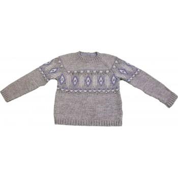 Csillogós szürke pulóver (116)