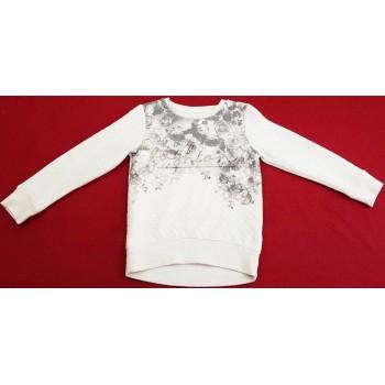 Rózsás törtfehér pulóver (116)