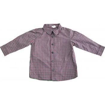 Piros-szürke kockás ing (80)