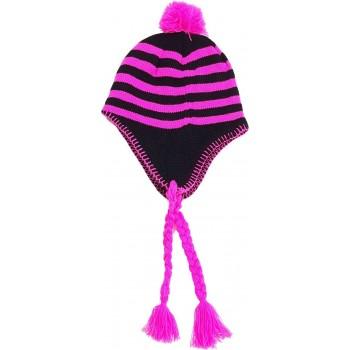 Pink-fekete csíkos, perui sapka (128-158)