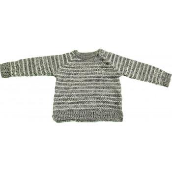Csíkos szürke pulóver (74)