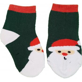 Mikulásos, zöld thermo zokni (23-27)