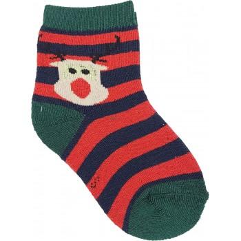 Rénszarvasos csíkos, thermo zokni (33-36)