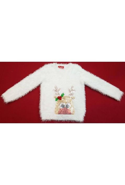 Rudolf fehér pulóver (110)