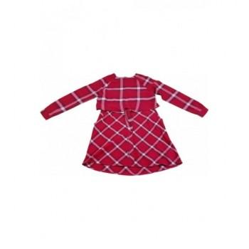 Bordó, kockás ruha (164)