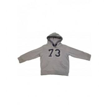 Feliratos szürke pulóver (110)