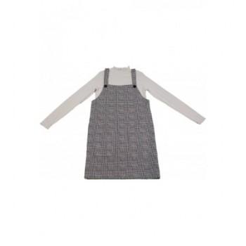 Fekete-fehér kantáros szoknya garbóval (152)