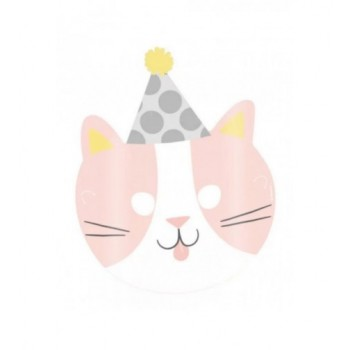Rózsaszín cica álarc