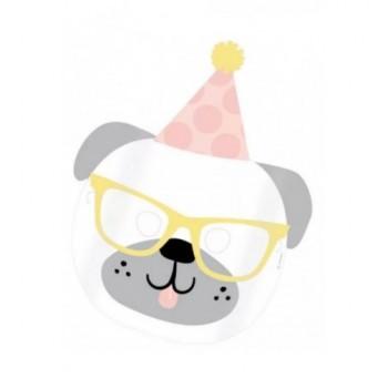 Fehér kutya álarc