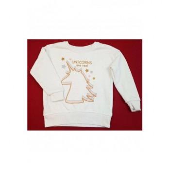 Unikornisos bézs pulóver (104)