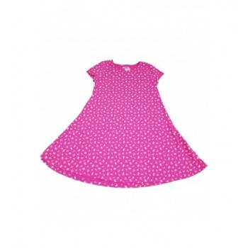 Virágmintás pink tunika-ruha (146)