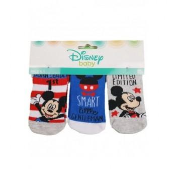 3db-os Mickey baby zokni (0-6 hó)