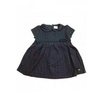 Pöttyös sötétkék ruha (74)