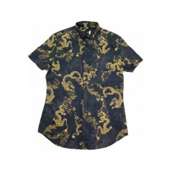 Sárkányos fekete ing (164-170)