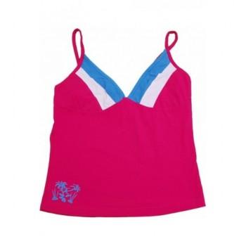Kivágott pink trikó (152-164)
