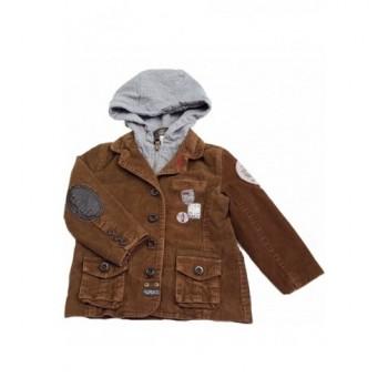 Barna kord kabát (98)