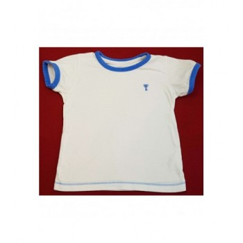 Kék szegélyes fehér felső (98)