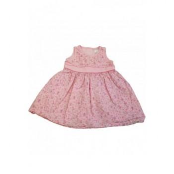 Virágmintás rózsaszín ruhácska (68)