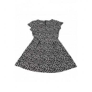 Fekete pöttyös fehér ruha (128)