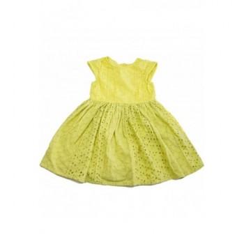 Csipkés sárga ruha (104)