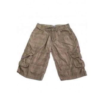 Kockás barna rövidnadrág (140)