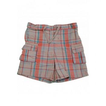 Kockás drapp rövidnadrág (80-86)